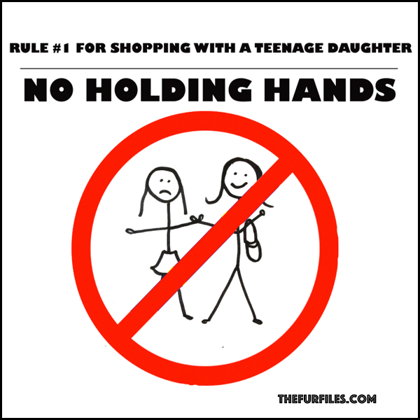 Rules For Back-To-School Shopping With Your Teenage Daughter | TheFurFiles